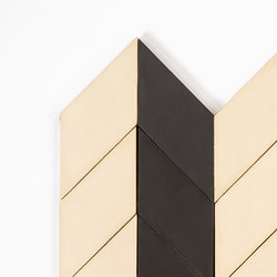 Short-Chevron-Parade-black-cream | Piastrelle cemento | Granada Tile