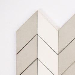 Short-Chevron-Parade-grey-white | Außenfliesen | Granada Tile
