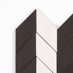 Short-Chevron-Parade-white-black | Concrete tiles | Granada Tile