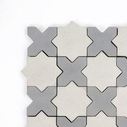 Star & Cross-GreySilver | Dalles de béton | Granada Tile