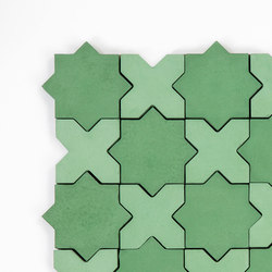 Star & Cross-PineSage | Concrete tiles | Granada Tile
