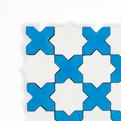 Star & Cross-WhiteBlue | Baldosas de hormigón | Granada Tile