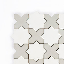 Star-Cross-WhiteGrey | Dalles de béton | Granada Tile
