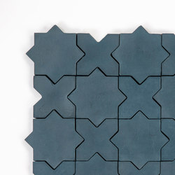 Star & Cross-Midnight | Concrete tiles | Granada Tile