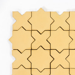 Star & Cross-Yellow | Baldosas de suelo | Granada Tile