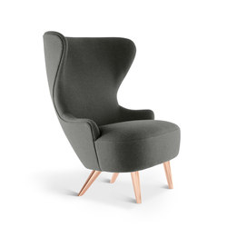 Micro Wingback Chair Copper Leg Hallingdal 65 | Loungesessel | Tom Dixon