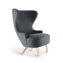 Micro Wingback Chair Copper Leg Hallingdal 65 | Sillones lounge | Tom Dixon