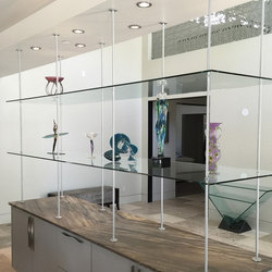 Glass Shelving Hardware | Sistemas de estanterías | Gyford StandOff Systems®