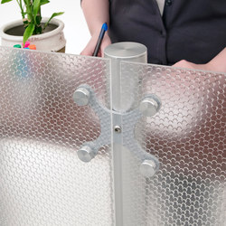 Spider Mount Hardware Privacy Divider | Glasbeschläge | Gyford StandOff Systems®