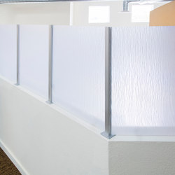 Square Extrusion & Baseplates | Wall partition systems | Gyford StandOff Systems®