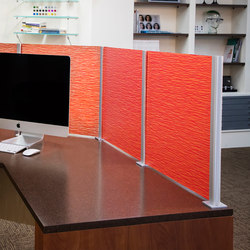 Square Extrusion Dividers | Table dividers | Gyford StandOff Systems®