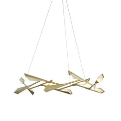 Quill Large LED Pendant | Ceiling suspended chandeliers | Hubbardton Forge