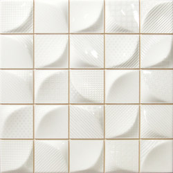 3D Tissu White | Ceramic tiles | Dune Cerámica