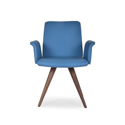 Flo armchair wood cone | Visitors chairs / Side chairs | Riccardo Rivoli Design