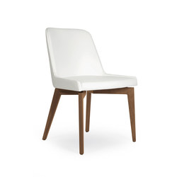 Marlene 100 wood | Visitors chairs / Side chairs | Riccardo Rivoli Design