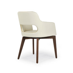 Marlene 200 wood | Visitors chairs / Side chairs | Riccardo Rivoli Design