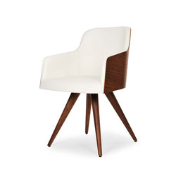 Marlene 200w wood cone | Visitors chairs / Side chairs | Riccardo Rivoli Design