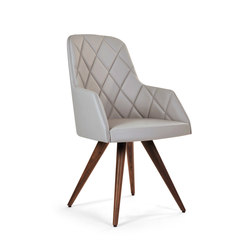 Marlene 220 wood cone with stiches | Sillas | Riccardo Rivoli Design