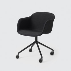 Fiber Armchair | swivel base with wheels | Sedie girevoli da lavoro | Muuto