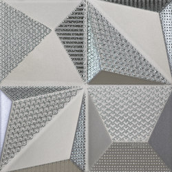 Shapes | Multishapes Silver | Ceramic tiles | Dune Cerámica