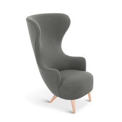Wingback Chair Copper Leg Hallingdal 65 | Poltrone lounge | Tom Dixon