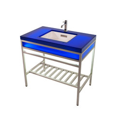 Ebb Concept - Cast Resin Console Featuring Ebb Basin | Vanity units | Neo-Metro