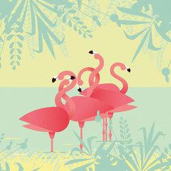 Flamingos | Wall coverings / wallpapers | LONDONART