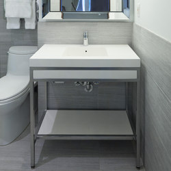 Slab Cast Solid Surface Console | Wash basins | Neo-Metro