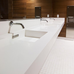 Slab Wall Mounted Cast Solid Surface Deck | Wash basins | Neo-Metro