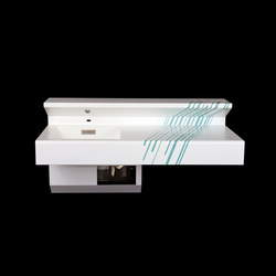 Straight Front, Wall Mounted System M2 Basin | Vanity units | Neo-Metro