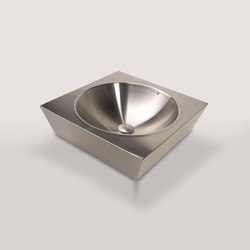 Tazon Square Vessel with Round Bowl | Wash basins | Neo-Metro