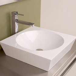 Tazon Square Vessel with Round Bowl | Wash basins | Neo-Metro