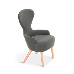 Wingback Dining Chair Copper Leg Hallingdal 65 | Sièges visiteurs / d'appoint | Tom Dixon