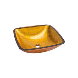 Washbasin Cuadrado Dorado Anaranjado | Wash basins | Dune Cerámica