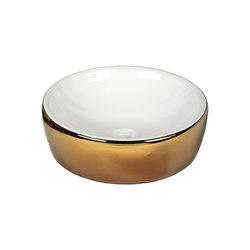 Washbasin White and Gold | Wash basins | Dune Cerámica