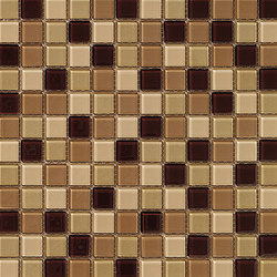 Dekostock Mosaics | Malla Cristal Beige Brillo | Glas Mosaike | Dune Cerámica