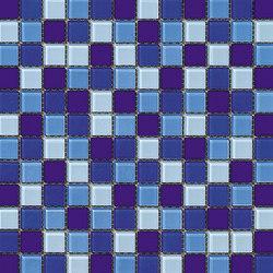 Dekostock Mosaics | Malla Cristal Azul Brillo | Mosaïques verre | Dune Cerámica