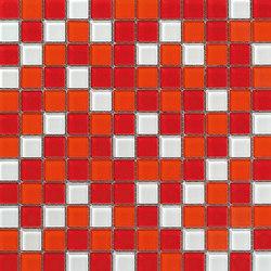 Dekostock Mosaics | Malla Cristal Rojo Brillo | Glass mosaics | Dune Cerámica