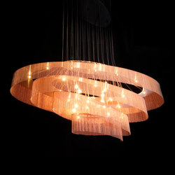 Elliptical Nebula 1600x600 | Suspended lights | Willowlamp