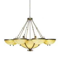 Alonzo 6 Arm Chandelier | General lighting | 2nd Ave Lighting