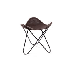 Hocker Neck-Leder Braun | Sgabelli | Manufakturplus