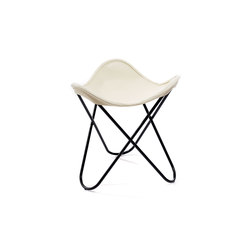 Hocker Neck-Leder Elfenbein | Sgabelli | Manufakturplus