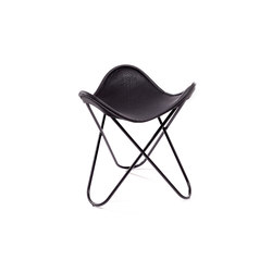 Hocker Neck-Leder Schwarz | Hocker | Manufakturplus