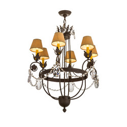 Antonia 6LT Chandelier | General lighting | 2nd Ave Lighting