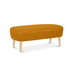 Wingback Long Ottoman Natural Leg Hallingdal 65 | Poufs | Tom Dixon
