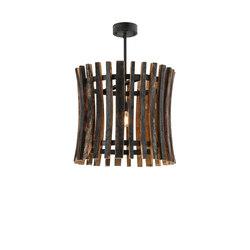 Barrel Stave Madera Pendant | Illuminazione generale | 2nd Ave Lighting