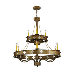 Byzantine 9 LT Two Tier Chandelier | Allgemeinbeleuchtung | 2nd Ave Lighting