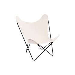 Hardoy Butterfly Chair Baumwolle Weiß | Loungesessel | Manufakturplus
