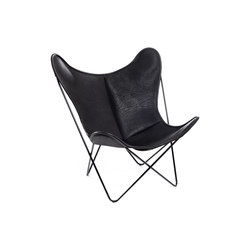 Hardoy Butterfly Chair Biobüffel Schwarz | Fauteuils d'attente | Manufakturplus