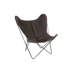 Hardoy Butterfly Chair Biobüffel Schwarz-Braun | Lounge chairs | Manufakturplus